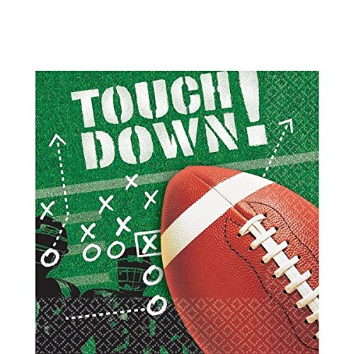 - American Greetings Football Frenzy Lunch Napkins, 100-Count