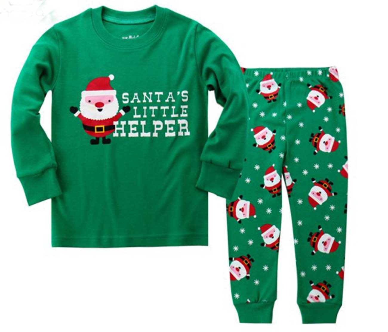 6 Toddler size:2 Years-7 Years Babydear snow man Little Boys 2 Piece Pajama 100/% Cotton , green years