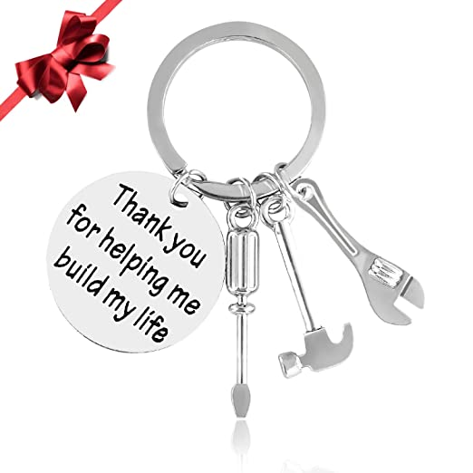 christmas gifts keychain for father thank you for helping me build my life tools