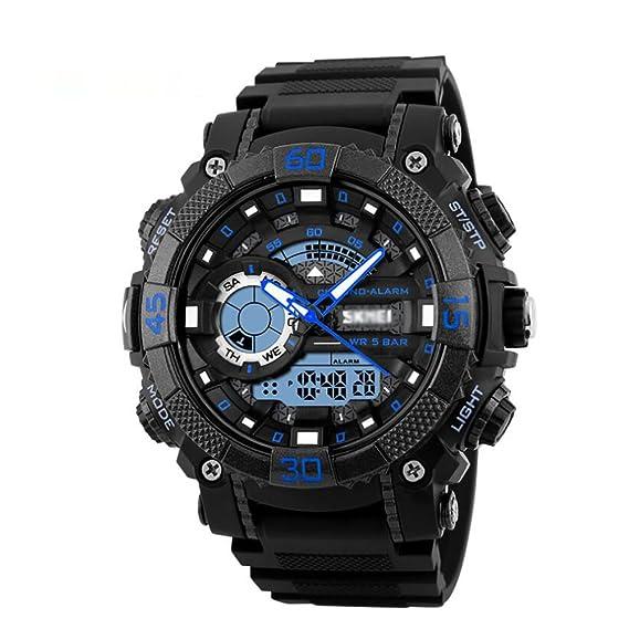 Peros reloj digital, Aire libre Deportes 50m resistente al agua Relojes analógicos, Digital led Pero Adolescentes Chicos Watch-A: Amazon.es: Relojes