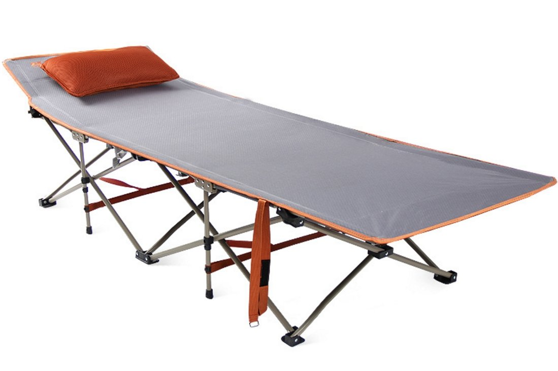 SUNBELT 折りたたみベッド 簡易ベッド 枕 敷布団付き 高耐荷重 設置簡単 コンパクト収納 アウトドア 自宅 オフィス 休憩用 通気 快適 コット B07BF3SYM1 グレー(折りたたみベッド) グレー(折りたたみベッド)