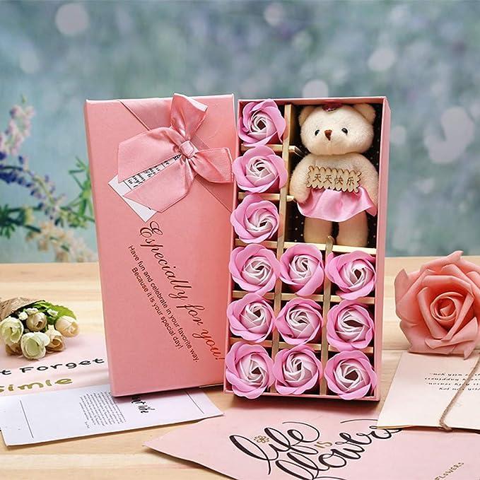 Muium 12 Piezas de Caja de Regalo Rosa Mujeres para Las Que ...