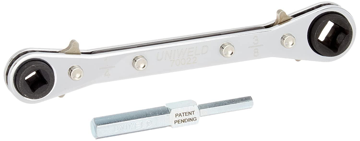 Uniweld 70022 Reversible Ratchet Wrench with DHVA Dual Hex Wrench Adaptor