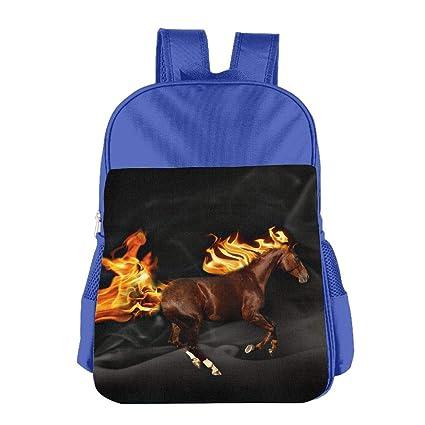 7ebffa39c2c8 Amazon.com  Free Fire 3D Horse Kids Backpack Boys Girls Fit School ...