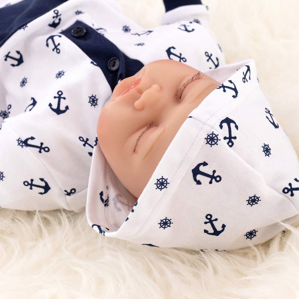 9226a26ebf Makoma Baby Overall weiß blau | Motiv: Anker | Babystrampler mit maritimem  Muster für Neugeborene & Kleinkinder | Größe: 3 Monate (62): Amazon.de: Baby