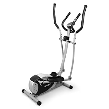 Klarfit ELLIFIT – Bicicleta elíptica Gama para Ejercicios de Cardio Fitness (pulsómetro Integrado, 8