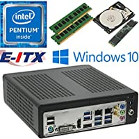 E-ITX ITX350 Asrock H270M-ITX-AC Intel Pentium G4600 (Kaby Lake) Mini-ITX System , 32GB Dual Channel DDR4, 120GB M.2 SSD, 2TB HDD, WiFi, Bluetooth, Window 10 Pro Installed & Configured by E-ITX