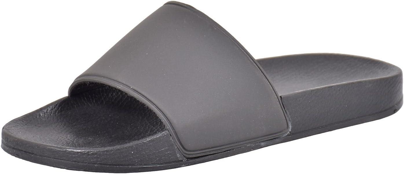 6d7577876956 Urban Jacks Mens Henley Slippers Black 8  Amazon.co.uk  Shoes   Bags