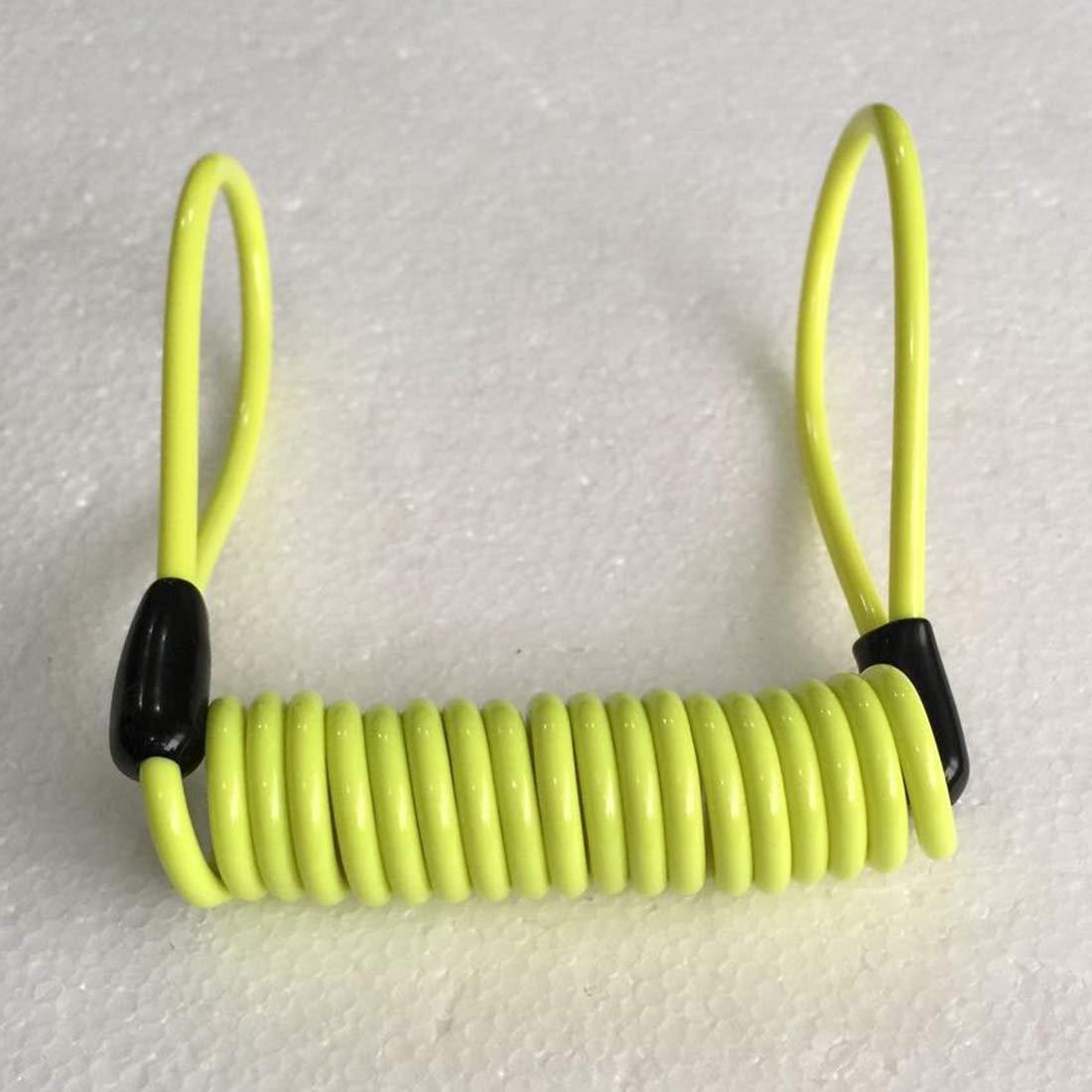 Noyokere Cable del recordatorio de la Seguridad de la Alarma de Reminde del Resorte de la Cerradura del Disco de la Motocicleta para el Azul de la Vespa de la Bici