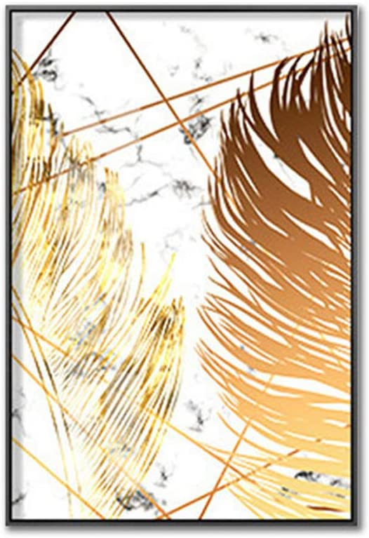 Y010456-a Estilo de Vida Creativo Cuadro de Lienzo sin Marco con Hoja de Oro para Sala de Estar decoraci/ón del hogar 20x30cm BeesClover