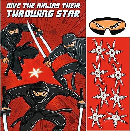 amscan 271587 Ninja - Juego de Fiesta: Amazon.es: Juguetes y ...
