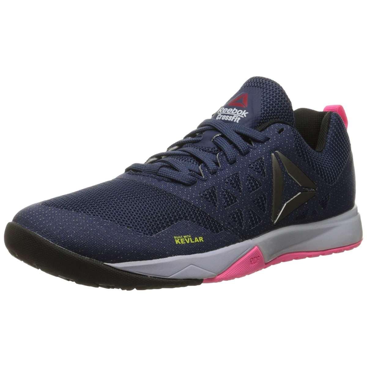 Reebok Women's Crossfit Nano 6-0 Cross-Trainer Shoe, Blue Ink/Lucid Lilac/Poison Pink/Black/Pewter, 8 M US