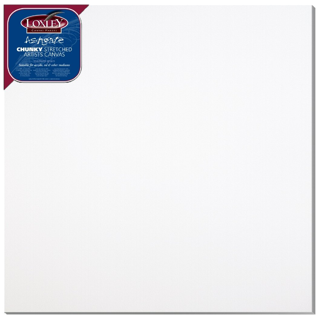 Loxley 40 x 40-inch Deep 36 mm Edge Ashgate Chunky Stretched Artists Canvas, White by Loxley by Loxley