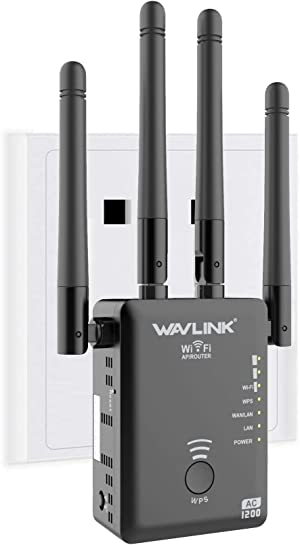 WiFi Range Extender Repeater, Latest 1200Mbps WiFi Repeater Wireless Signal Booster, 2.4 and 5GHz 360 Degree Full Coverage WiFi Extender Signal Amplifier with AP/Router/Repeater Mode