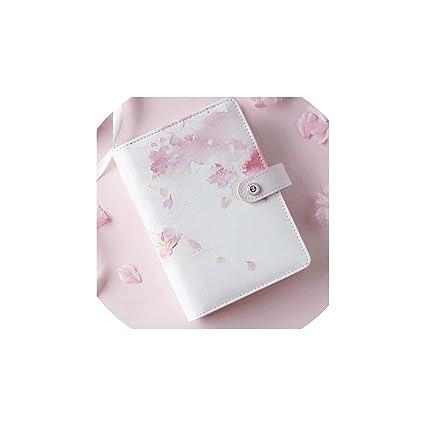 2019 - Agenda de piel con páginas (tamaño A6), color rosa ...