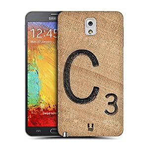Head Case Designs Tile C Scrabble Tiles Replacement Battery Back Cover for Samsung Galaxy Note 3 N9000 N9002 N9005