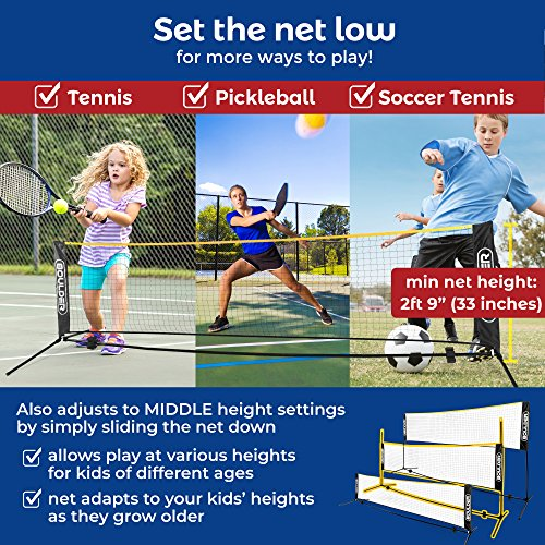 Boulder Portable Badminton Net Set - 10-FT Mini Net for Tennis, Soccer Tennis, Pickleball, Kids Volleyball - Easy Setup Nylon Sports Net with Poles - for Indoor or Outdoor Court, Beach, Driveway by Boulder (Image #2)