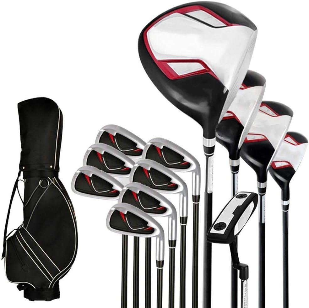 Paquete De Palos De Golf Golf Club de Golf Club de Golf Set Hombres conjunto de polos principiante conjunto completo de 12 Golf ligero y de alta elástico de carbono Eje Apto Para PráCtica De Golf