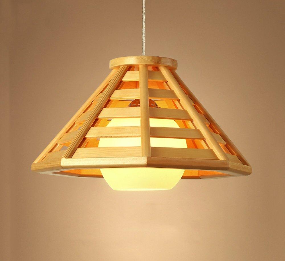 JAZS® Holz Kronleuchter japanischen Stil im chinesischen Stil Restaurant Lichter Wohnzimmer Lichter Bar Bar Zähler LED-Leuchten E27 Luxus Kreativität Einfachheit