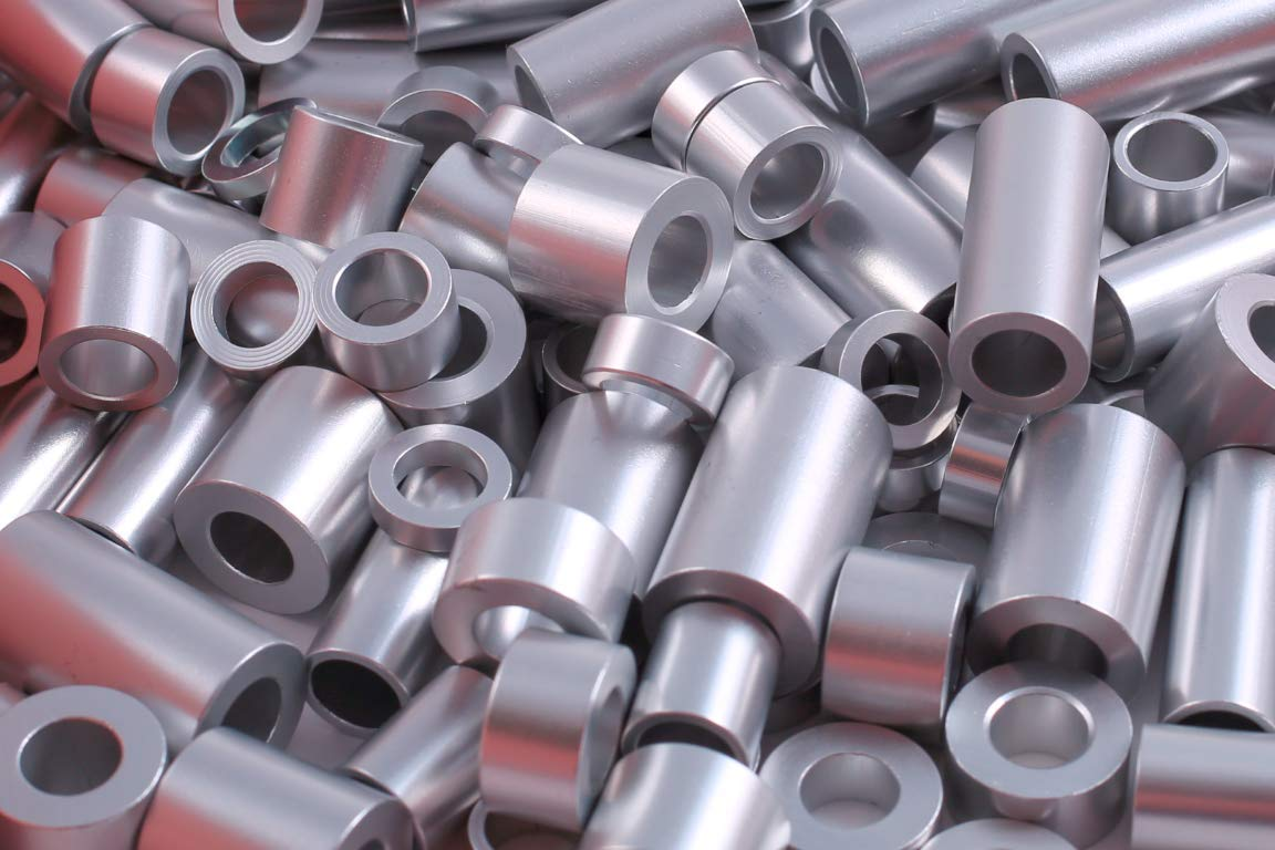 Aluminum Spacer 5/8'' OD x 5/16'' ID x 1-1/2'' L, Round by Metal Spacers Online (Pack of 10)