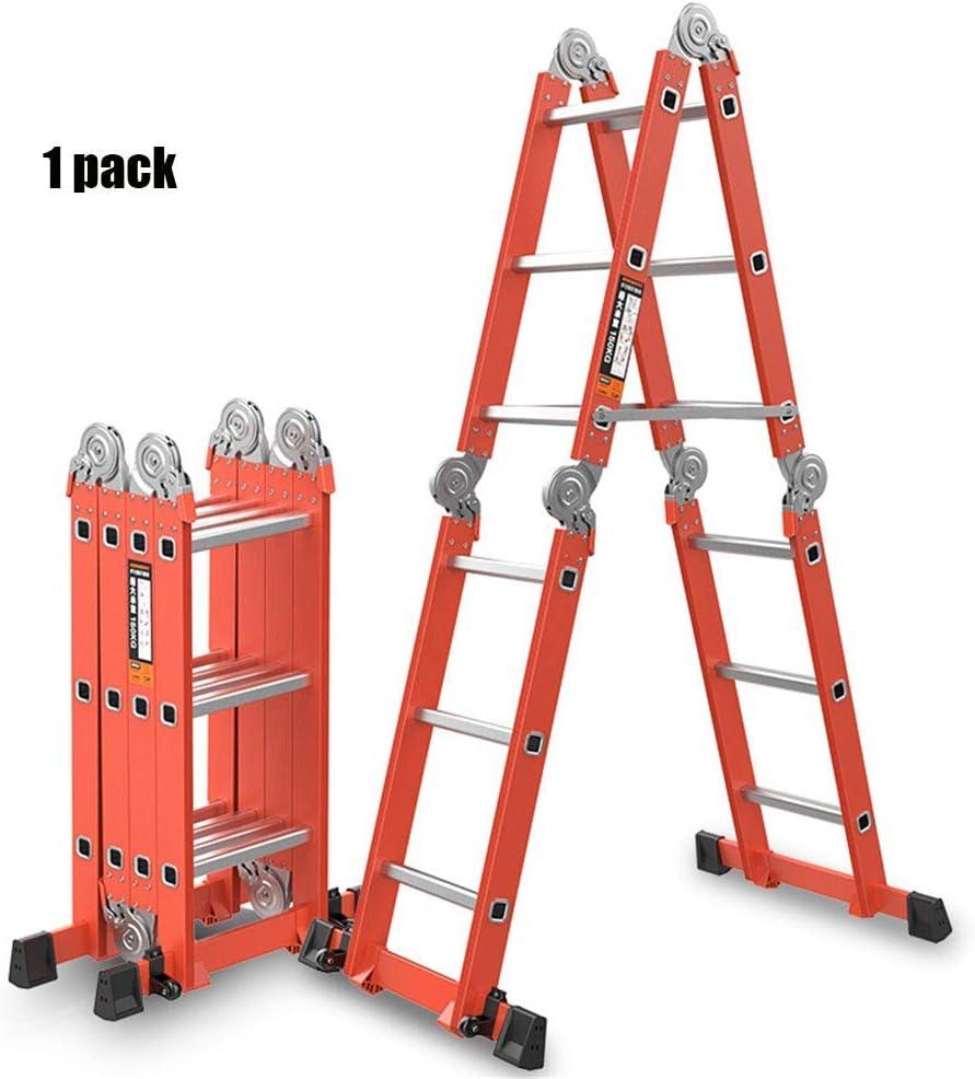 ACZZ Escalera de aluminio, escalera telescópica en espiga Escalera plegable portátil de ingeniería Escaleras de extensión antideslizantes para el hogar, el mercado y la oficina: Amazon.es: Bricolaje y herramientas