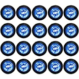 "20 Clear/Blue LED Side Marker Lights 3/4"" Clearance Truck Trailer Pickup Extra Bright"