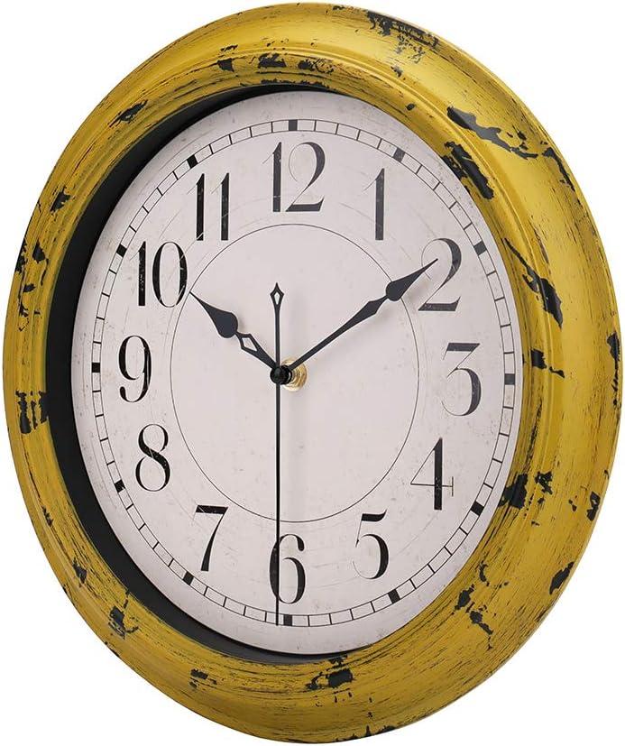 Jomparis 12 Green Wall Clock Silent Non Ticking Battery Operated Quartz Round Clock Home Kitchen Home Décor