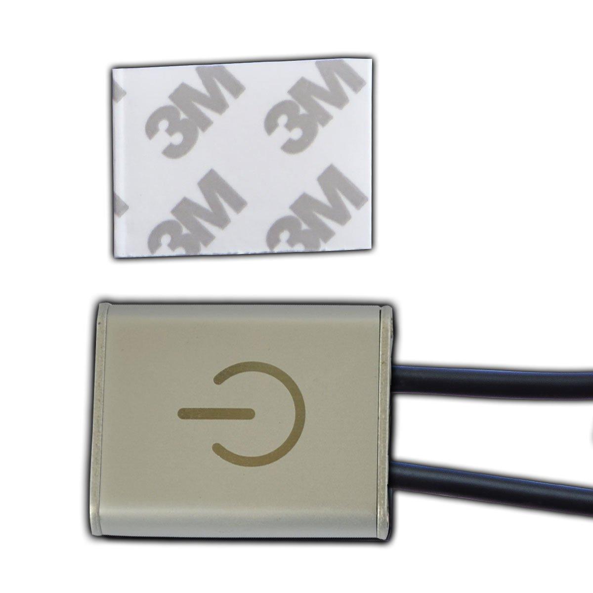 etc. PB-Versand Conmutador de luz LED mediante tecnolog/ía t/áctil para regular las barras de luz LED