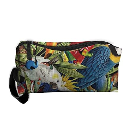 8d3f2e3edf3b Toco Toucan Parrot Tropical Rainforest Makeup Cosmetics Pouch Travel Hanging  Organizer Kit Bag  Amazon.ca  Luggage   Bags
