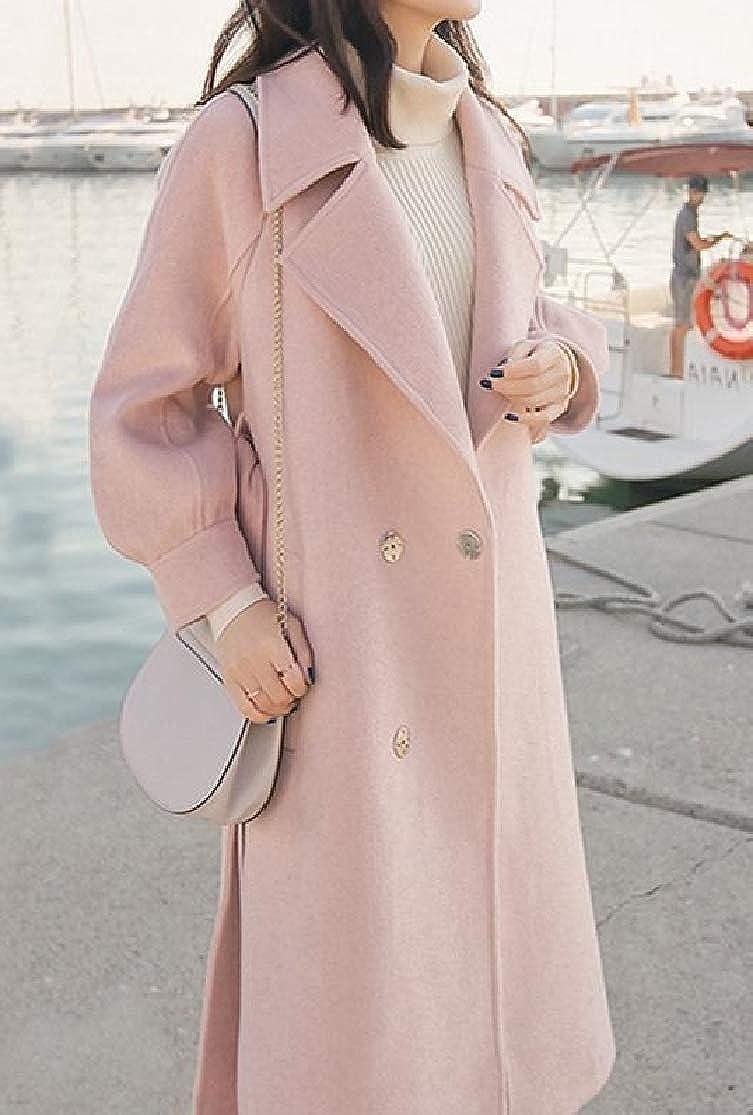 Colourful Womens Fashion Wool Blend Varsity Long Winter Dust Coat Outerwear
