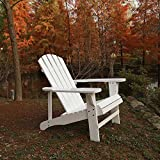 C Living Fashion Outdoor Wood Adirondack Chairs / Muskoka Chair Patio Deck Garden Furniture (Chair,White)