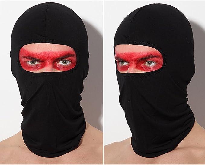 Máscara Facial Anti UV para Ciclismo Hiperelástico Respirable Pasamontañas de Lycra A Prueba de Polvo y Resistente al Viento Máscara Facial de la Motocicleta Sombrero de Montar al Aire Libre, Rojo: Amazon.es: