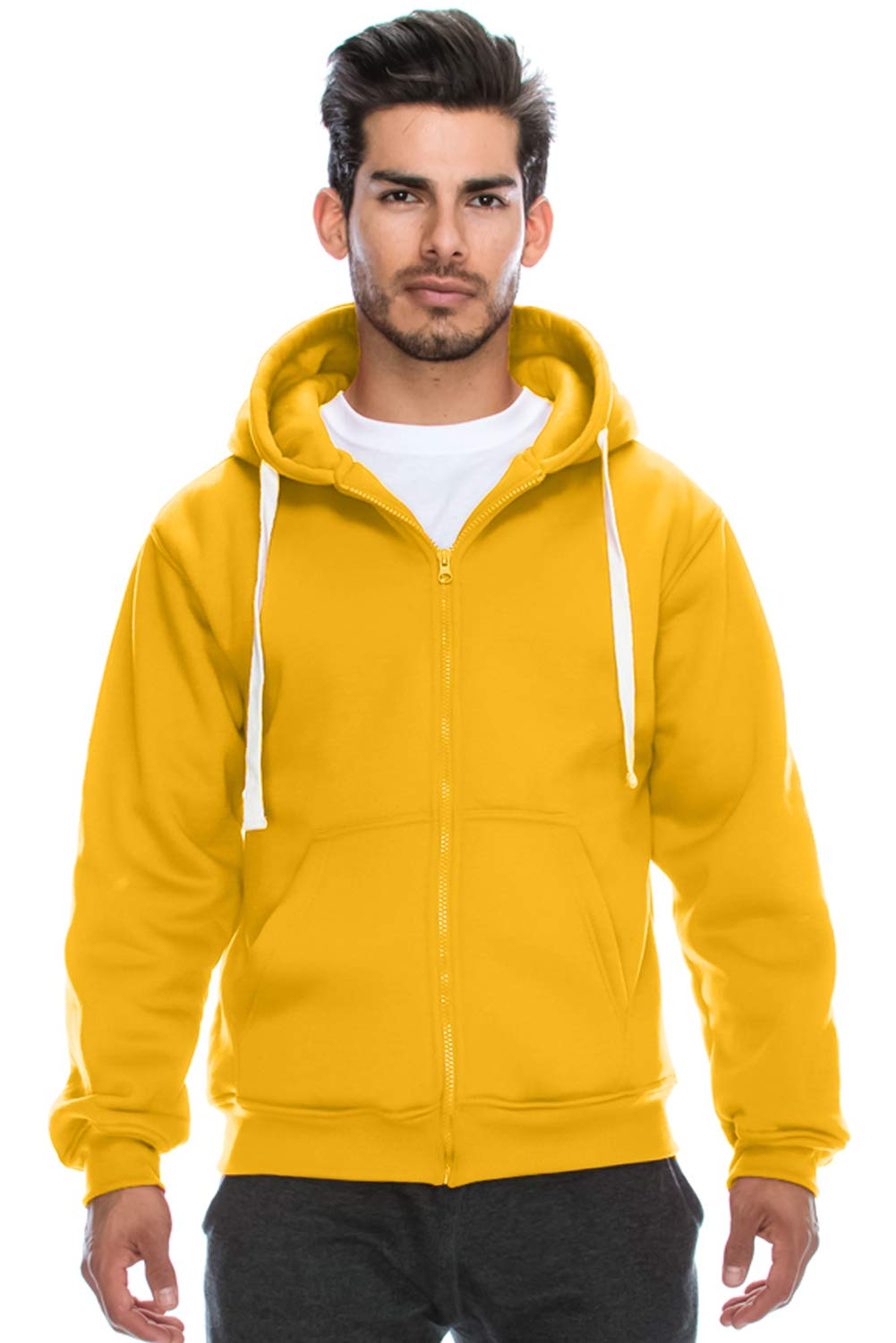 JC DISTRO Mens Hipster Hip Hop Basic Heavyweight Zipup Hoodie Jacket (Size Upto 6XL Plus)
