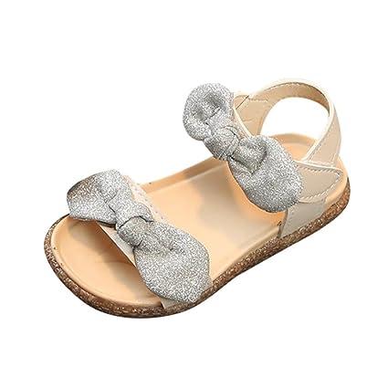 Sandalias Niña Bebé Verano ❤ Amlaiworld Niños Niñas Bling Bowknot Sandalias Princesa Antideslizante Sandalia Romanas Bowknot bebé Niña Zapatos de ...