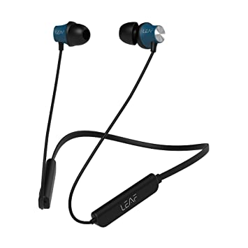 Buy Leaf Collar Wireless Bluetooth Earphones With Mic 45 Degree Ear Canals 6 Hours Battery Life With Deep Bass Gunmetal Black Online At Low Prices In India Amazon In