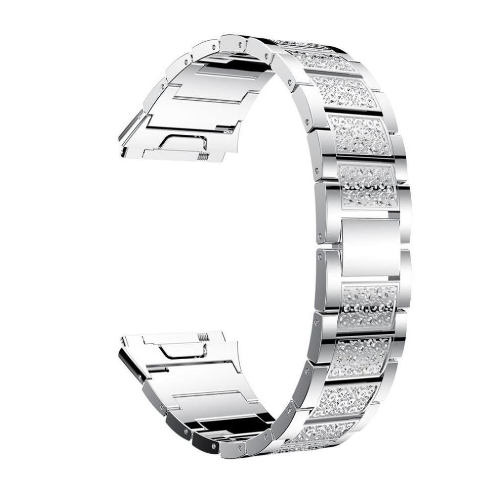 ftxjステンレススチールLuxuryスポーツウォッチ交換用ブレスレット手首バンドfor Fitbit Ionic シルバー シルバー B0774BS3MZ