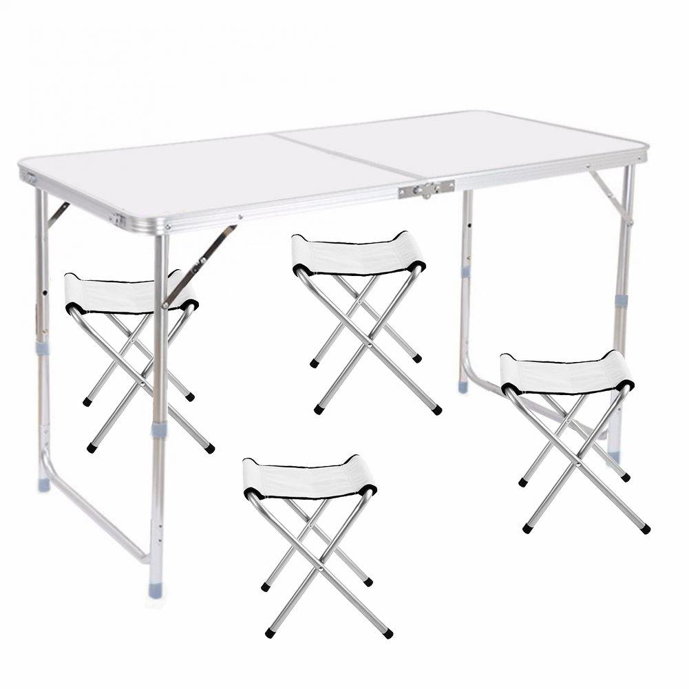 4ft folding camping table portable aluminium foldable camping