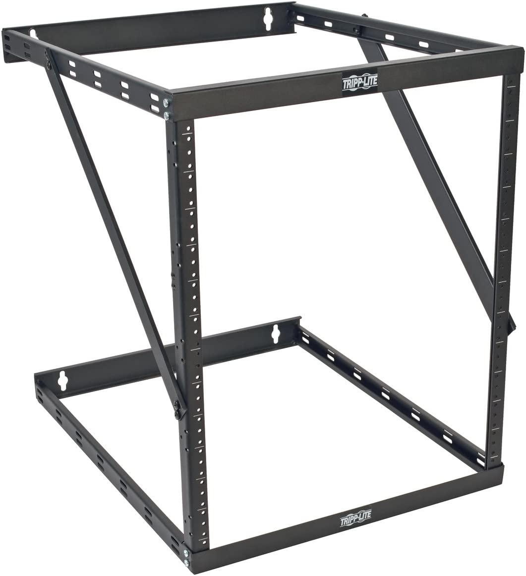 "Tripp Lite 8U/12U/22U Expandable Wall-Mount 2-Post Open Frame Rack, Adjustable Network Equipment Rack, UPS Depth, 23.5"" Deep (SRWO8U22DP)"