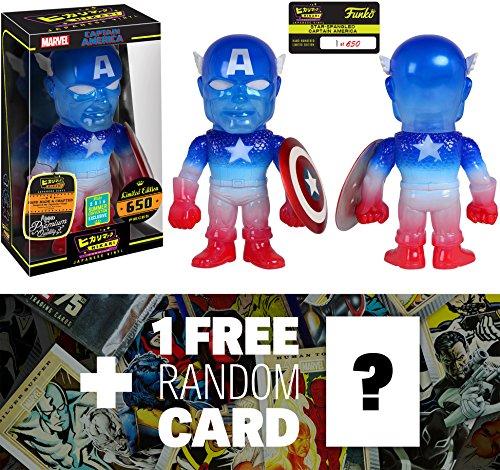 Captain America (2016 Summer Exclusive): Marvel Universe x Premium Funko Hikari Sofubi Vinyl Figure (Only 650 PCS Made World Wide) + 1 FREE Official Marvel Trading Card Bundle (101776)