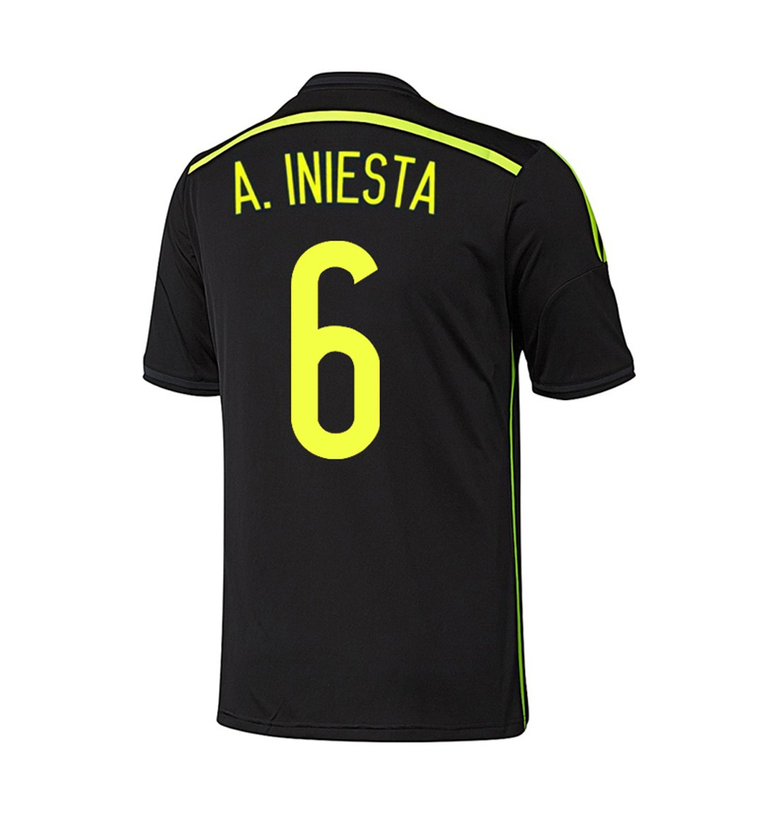Adidas A. INIESTA #6 Spain Away Jersey World Cup 2014 YOUTH (YS)