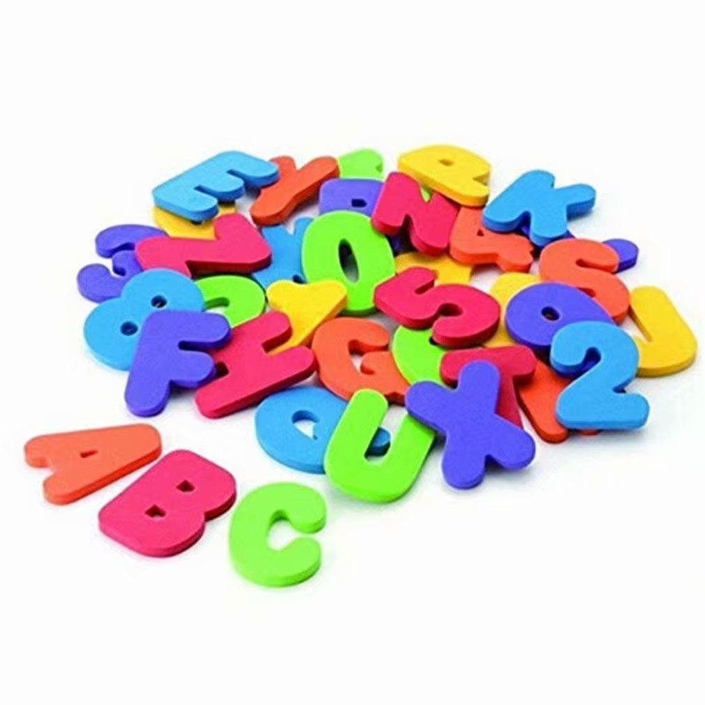 1 Set of 36pcs Numbers and Letters Puzzle Bath Toys Ahaccw