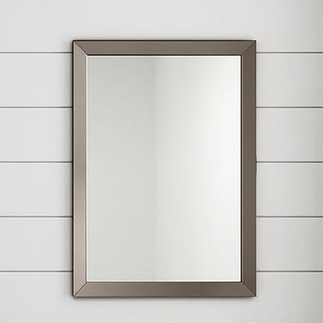 Specchi Moderni Con Cornice.Soak Arredo Bagno Specchio Moderno Con Cornice Montaggio A Parete