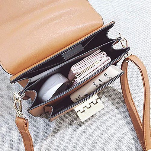 Large Simple Retro Buckle Wide Use Bag For Capacity Everyday Strap Bag Suitable Shoulder Pu Messenger Asdflina Brown pE1qdwxp