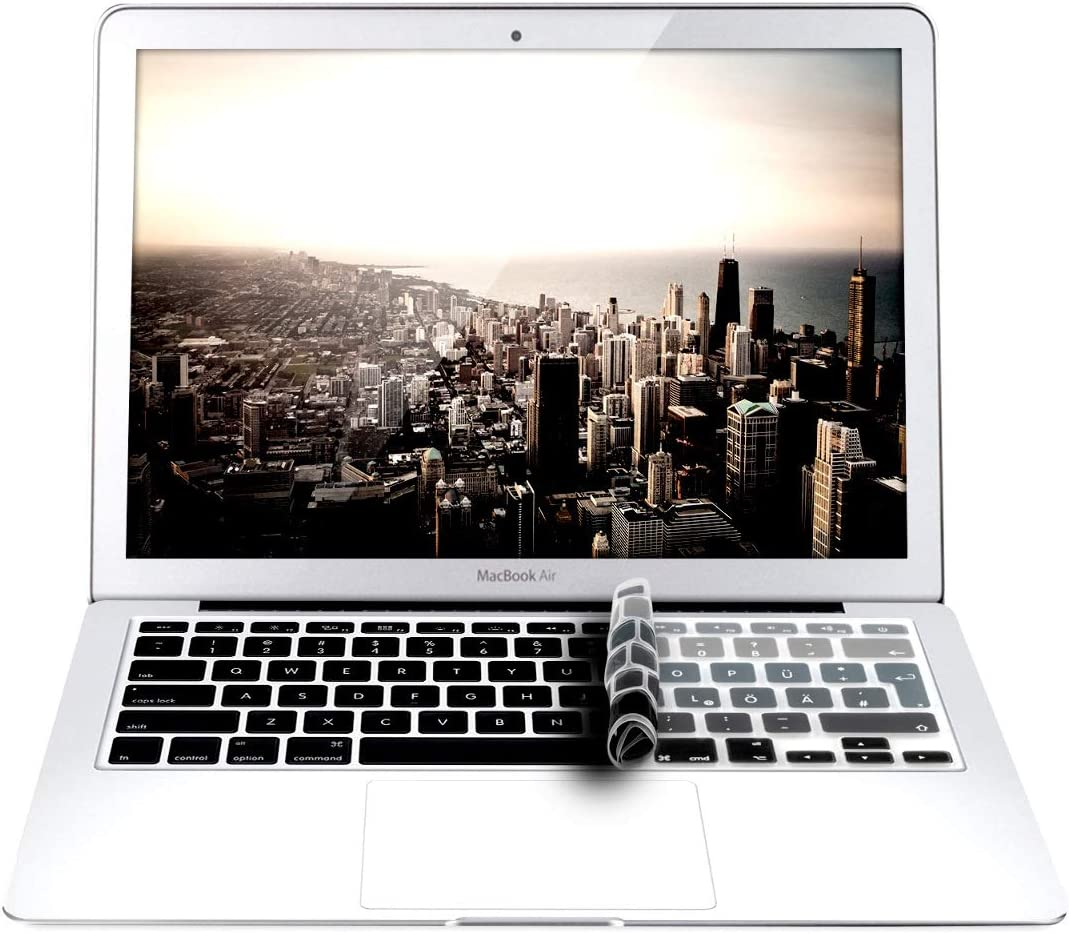 German QWERTZ Layout Keyboard Cover Silicone Skin to Mid 2016 kwmobile Keyboard Cover Compatible with Apple MacBook Air 13// Pro Retina 13// 15
