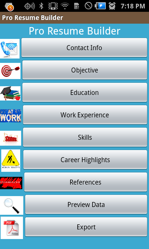Amazon.com: Resume Builder Elite: Appstore for Android