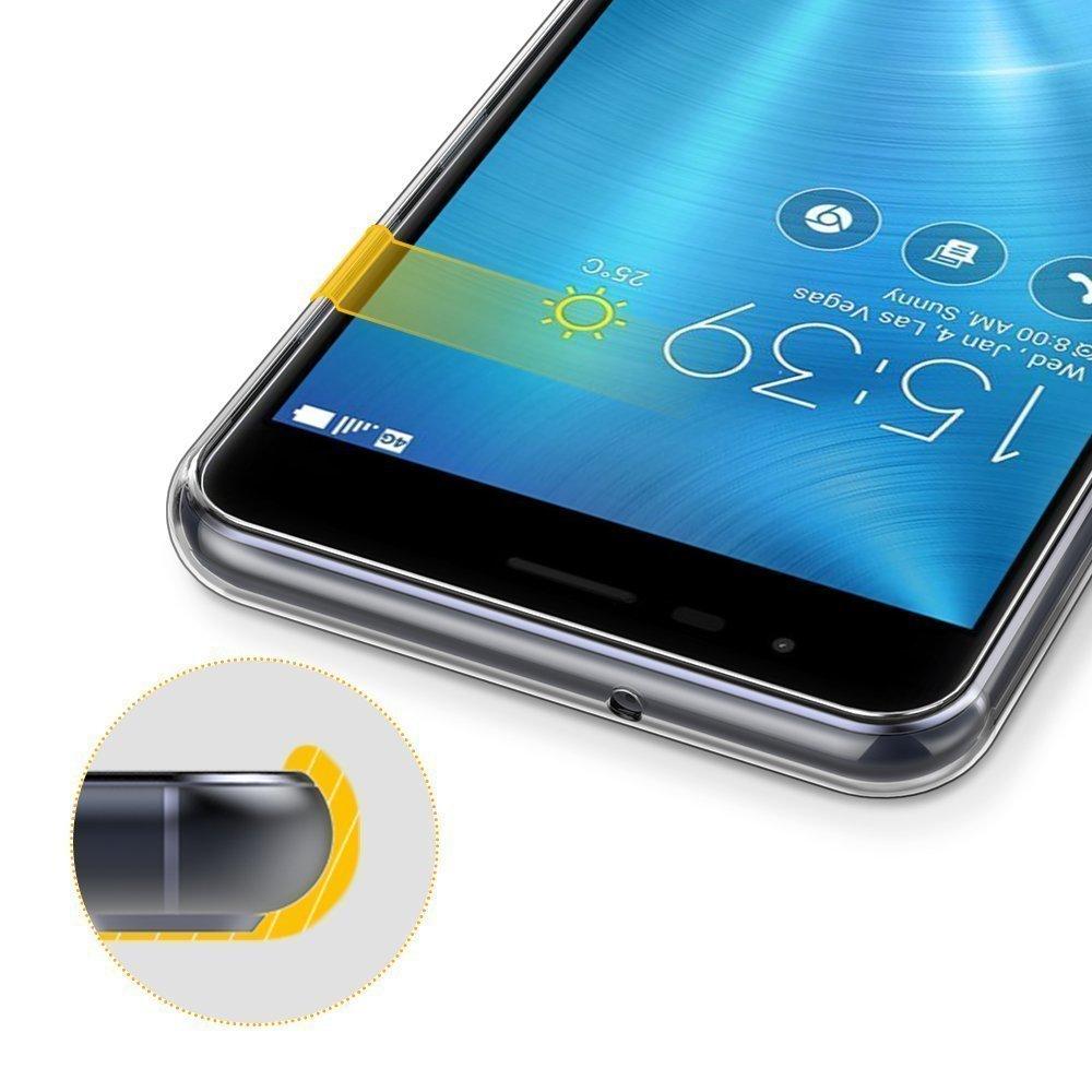 Zenfone 3 Zoom Case Asus Ze553kl S Lte 55ampquot 4 64gb Skmy Soft Tpu Crystal Transparent Slim Anti Slip Back Protector Cover
