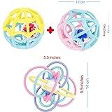 Pack Sonajeros Bebe 1 Mes a 1 año Dos Pelotas Rattle Sensoriales Un Aro Mordedor Sonajero Juguete Unisex