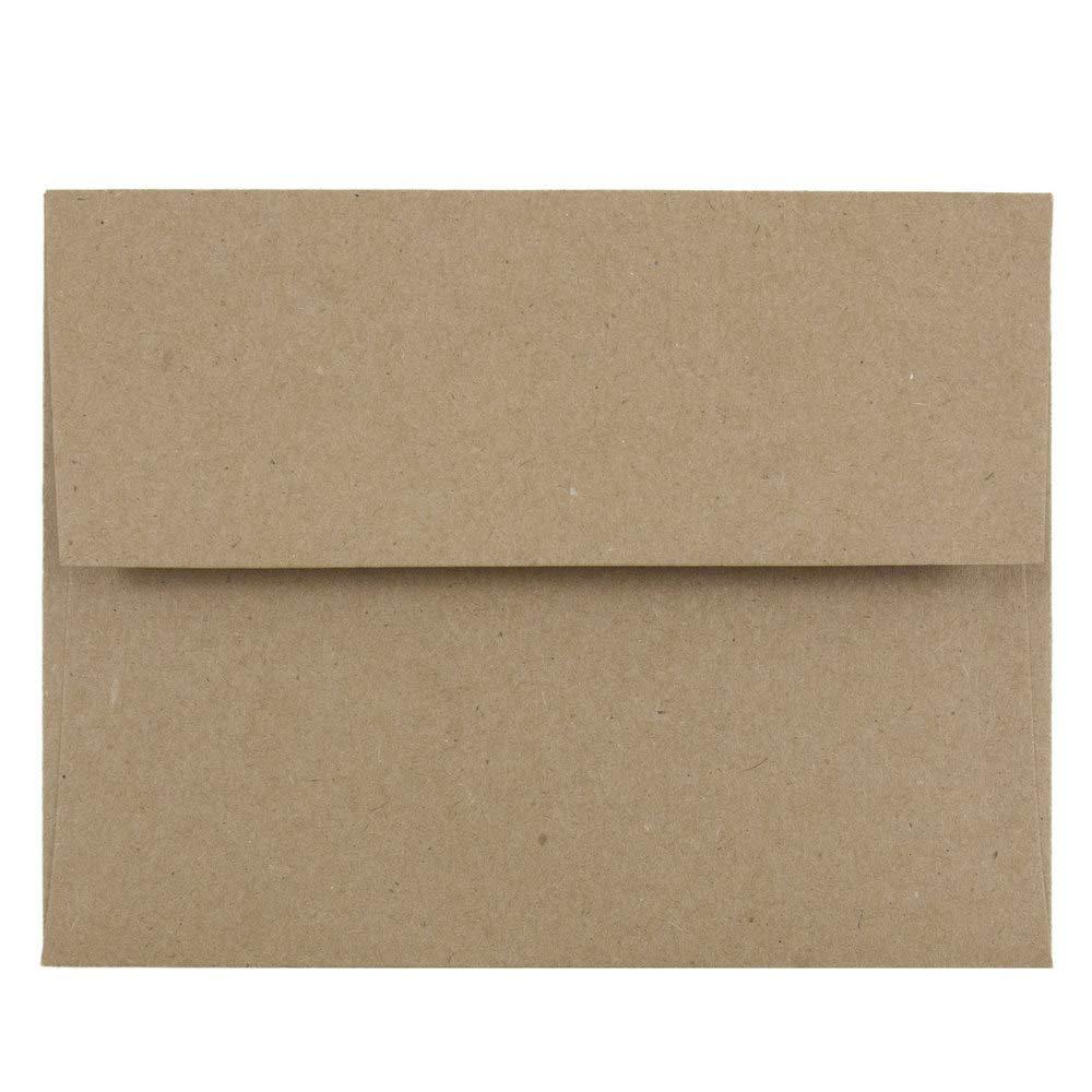111.1 x 146 mm 4 3//8 x 5 3//4 25//Pack JAM PAPER A2 Premium Invitation Envelopes - Brown Kraft Paper Bag