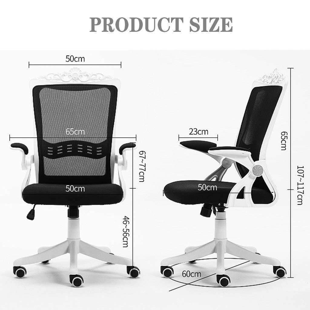 Executive kontorsstol hem ergonomisk svängbar vilande stolar 360° rotera ländrygg stöd och lutningsspänning med låsbart system Röd