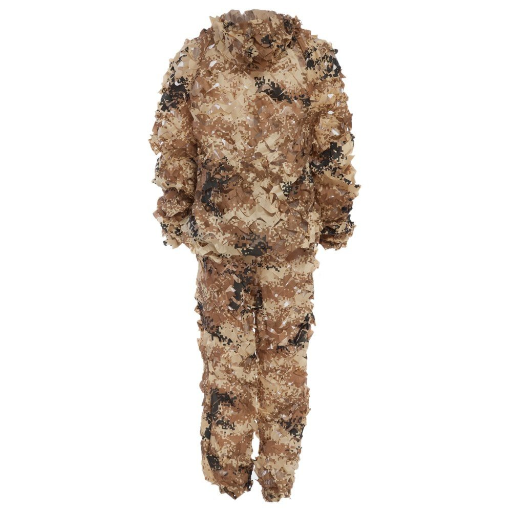 Durable Oxford Outdoor Woodland Sniper Ghillie Suit Kit Cloak Military 3d Leaf - Tan by Camp (Image #2)